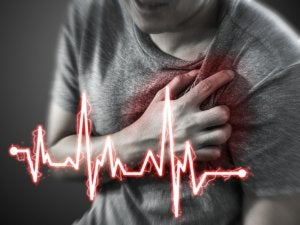 man having myocardial infarction