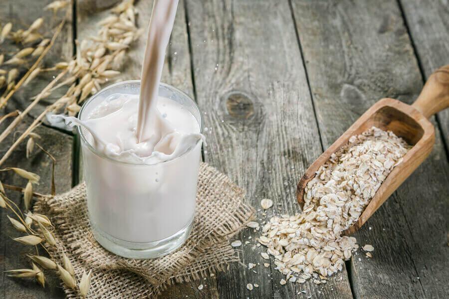 Oatmeal and oat milk.
