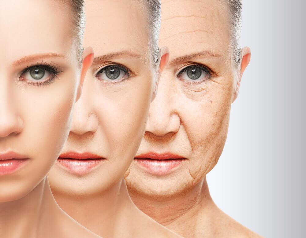 A representation of aging in women.