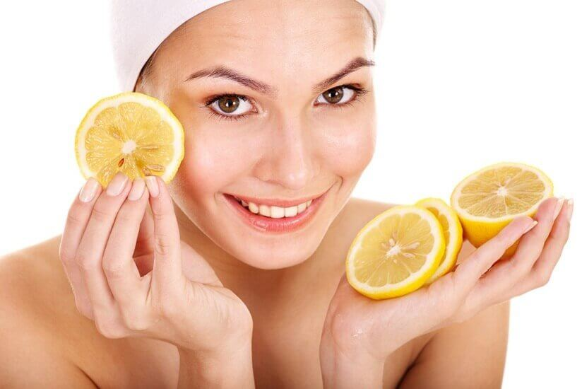 use lemon as a natural cosmetic