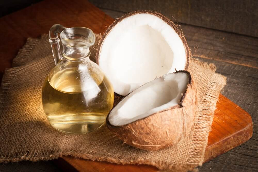 Extra virgin coconut oil is a healthy fat that helps you maintain a good body weight