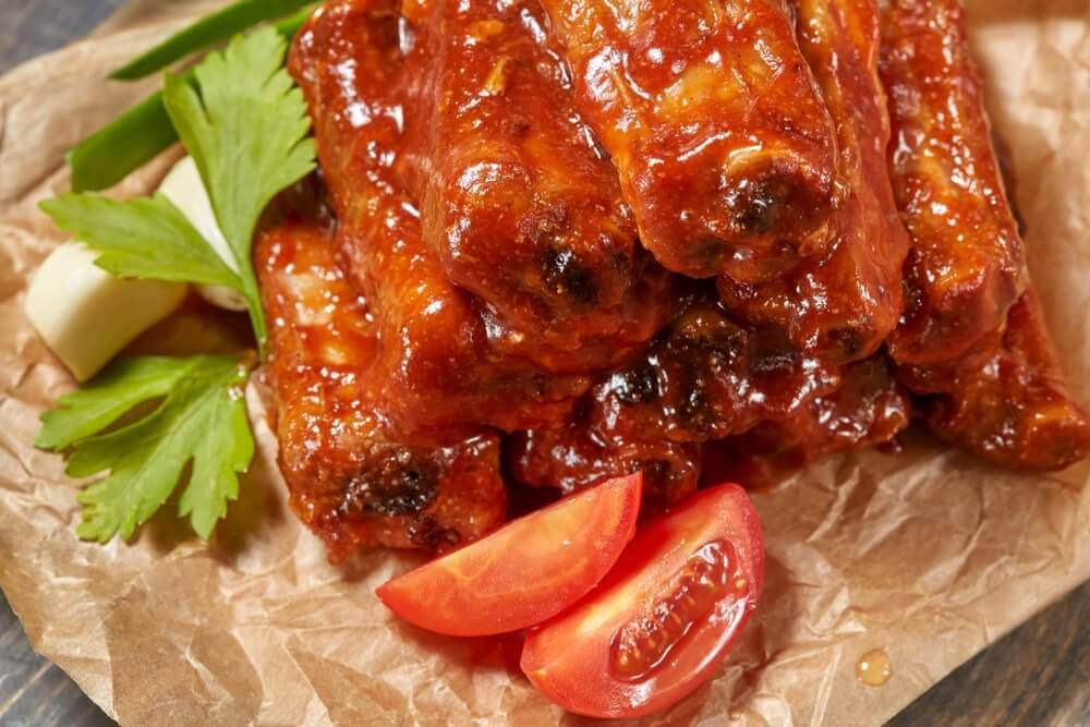 Caramelized ribs with honey