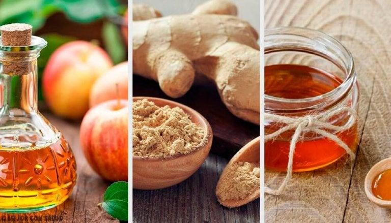 Apple Cider Vinegar, Ginger, and Honey Digestive Tonic