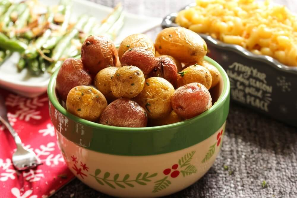 Healthy cooked potatoes