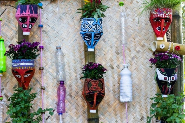 Make These Beautiful Plant Pots Using Recycled Materials