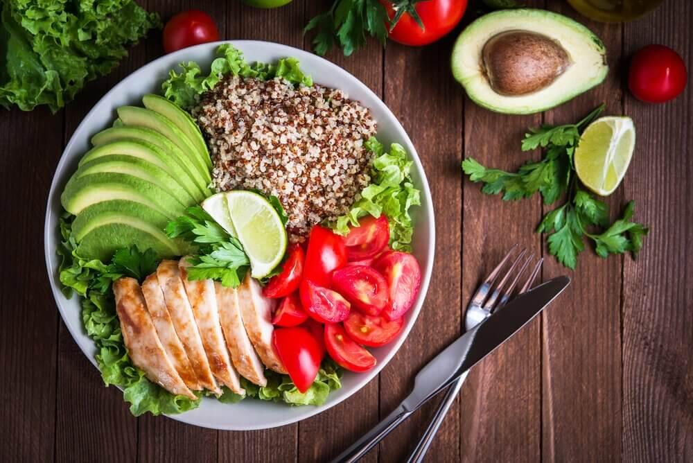 Quinoa in a salad