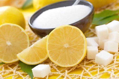 Lemon and sugar