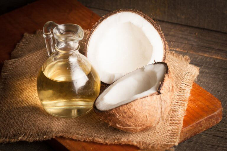 A jar of coconut oil.