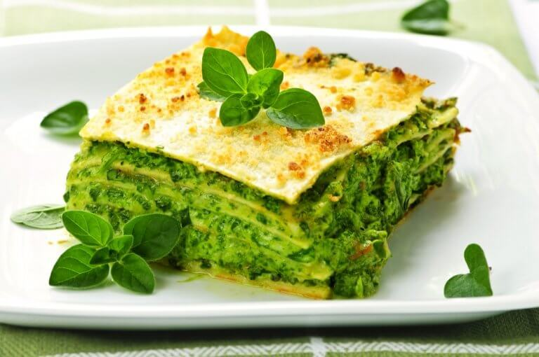 Protein spinach wrap