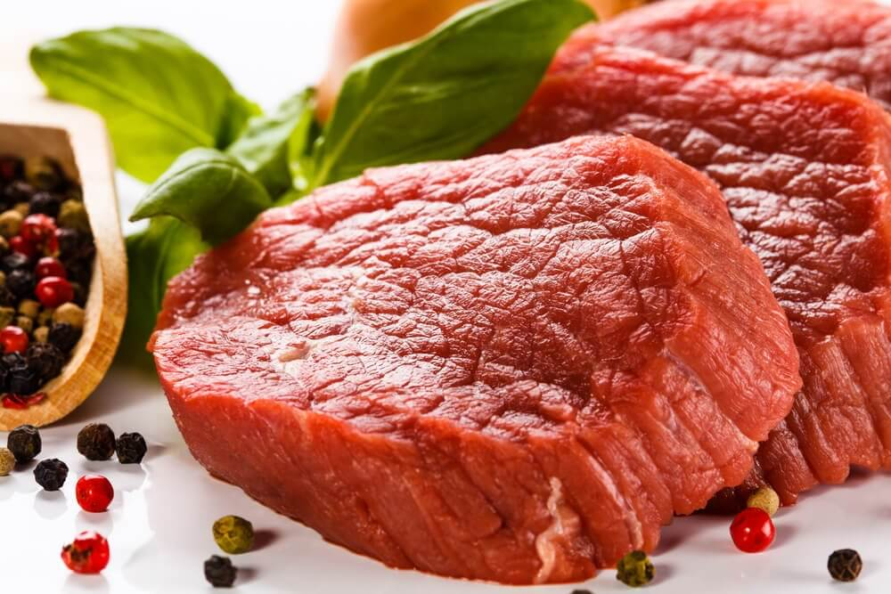 Eat red meat to raise the iron levels in your blood.