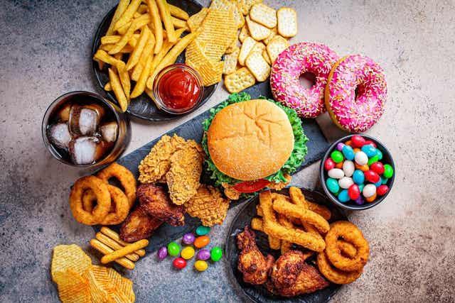 A few different fatty foods.