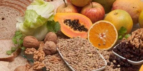 Foods rich in fiber