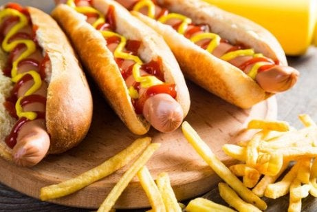 hot dogs and fries