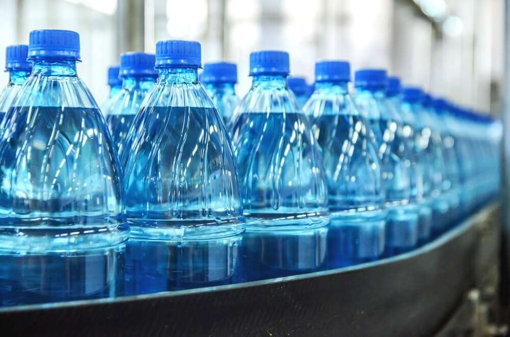 Types of bottled mineral water