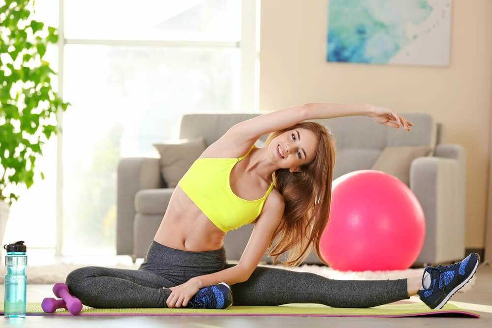 Exercise to beat premenstrual syndrome.