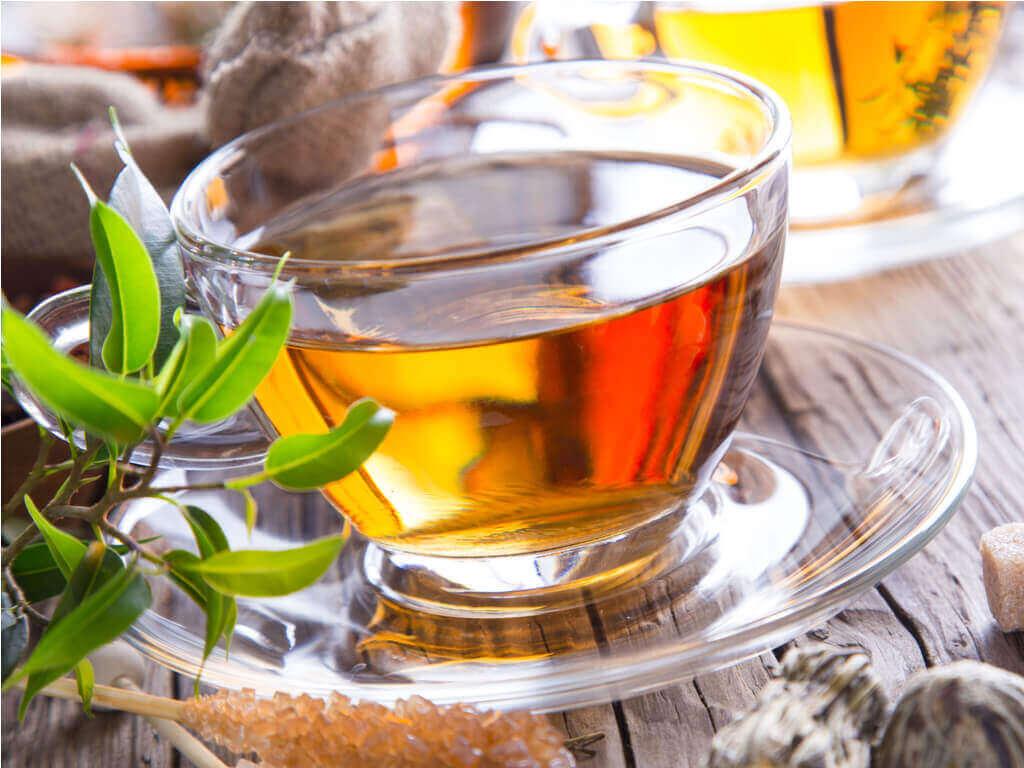 A glass of hawthorn tea.
