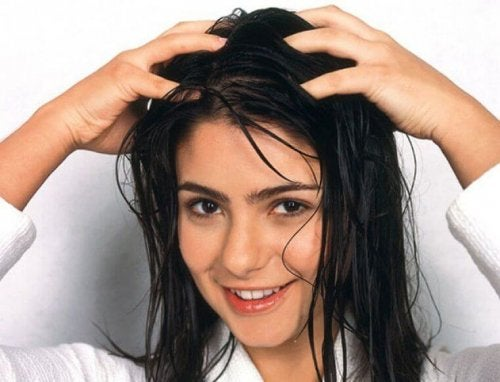Massage scalp to stop hair loss