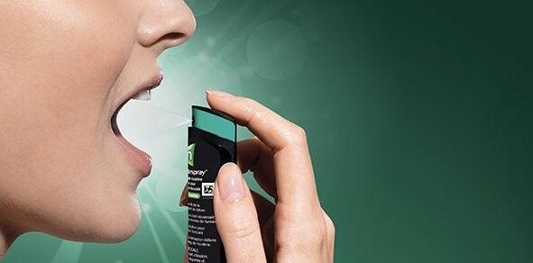 Spray product to quit smoking.