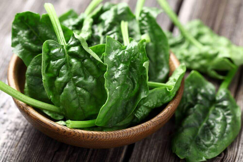 Fight hair loss with spinach