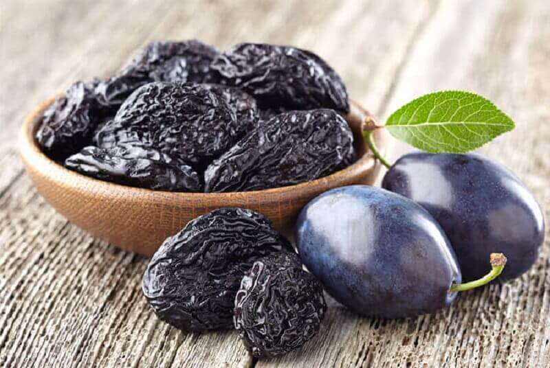 Plums and prunes in a homemade syrup for constipation.