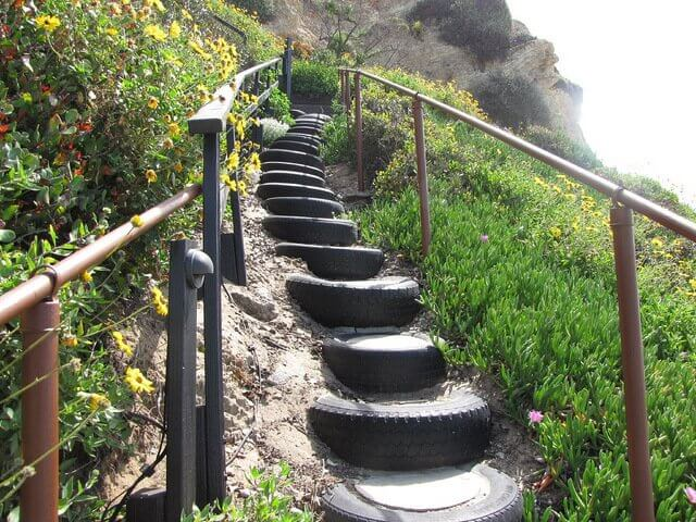 Stairs for steep hills