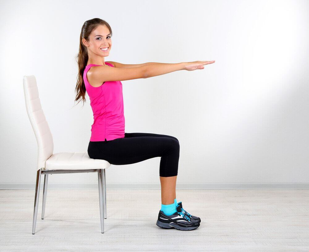 Seated trunk twists.