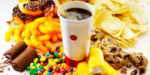 A panorama of junk food.