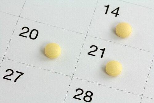 P-piller på kalender