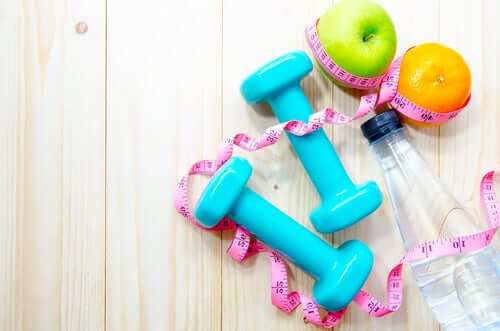 Some fruit which is the ideal diet and exercise equipment.