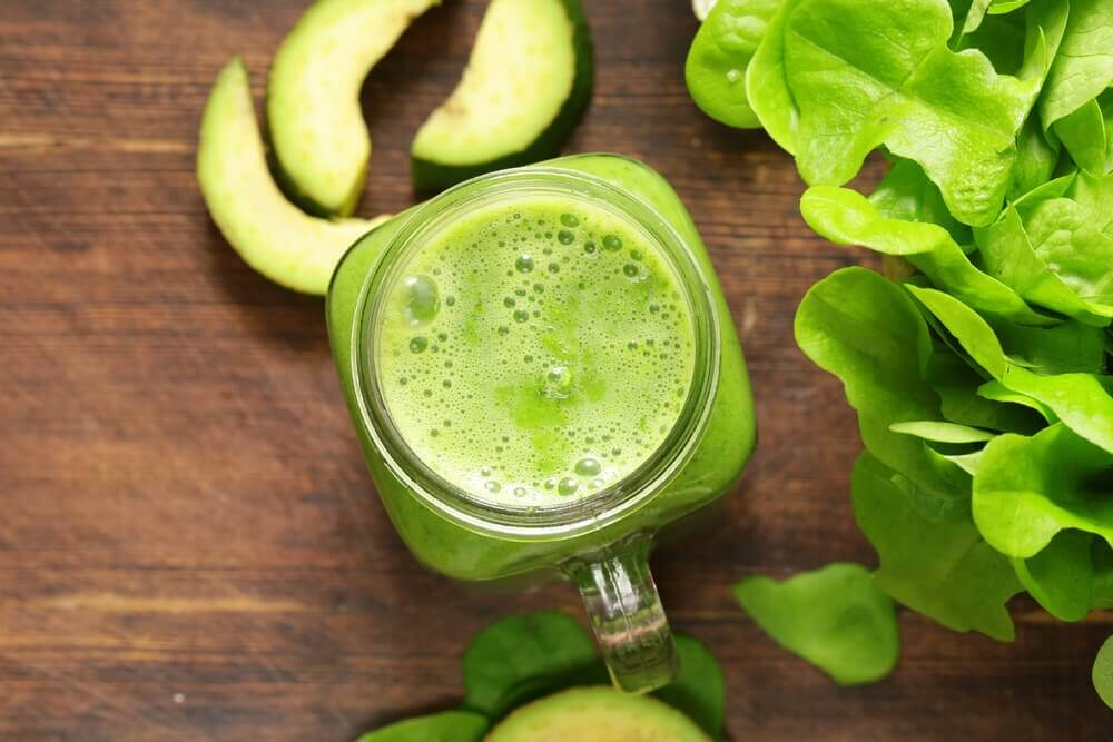 Triple Green Smoothie for toning the muscles
