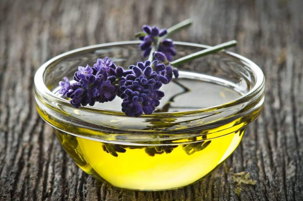 Olive oil and lavender.
