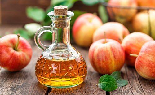Apple cider vinegar for weak nails.