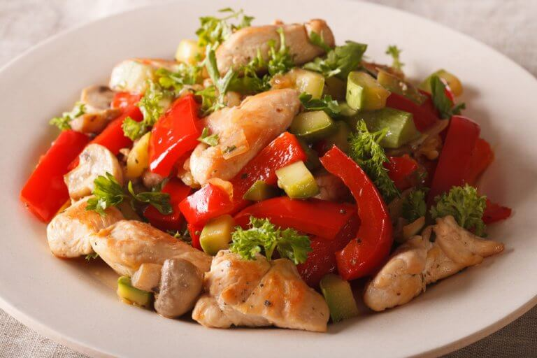 delicious chicken and vegetables dish