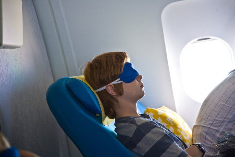 sleep on planes