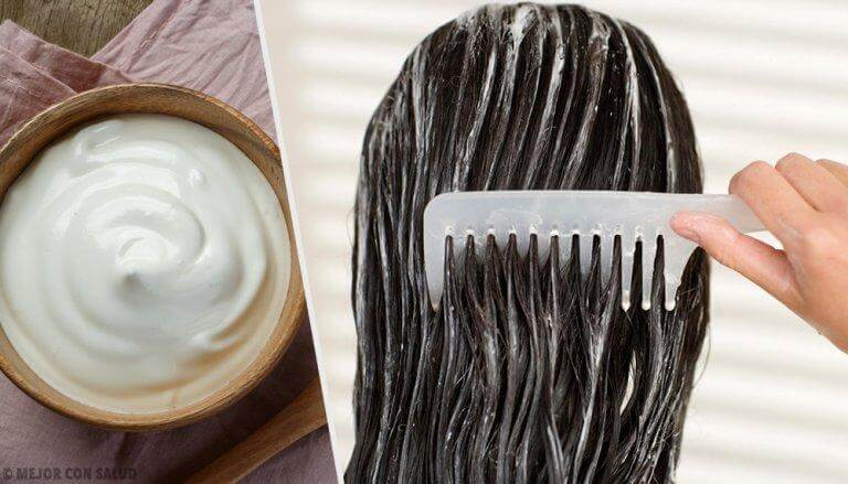 White hair mask.