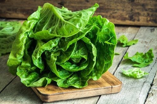 Romaine lettuce.