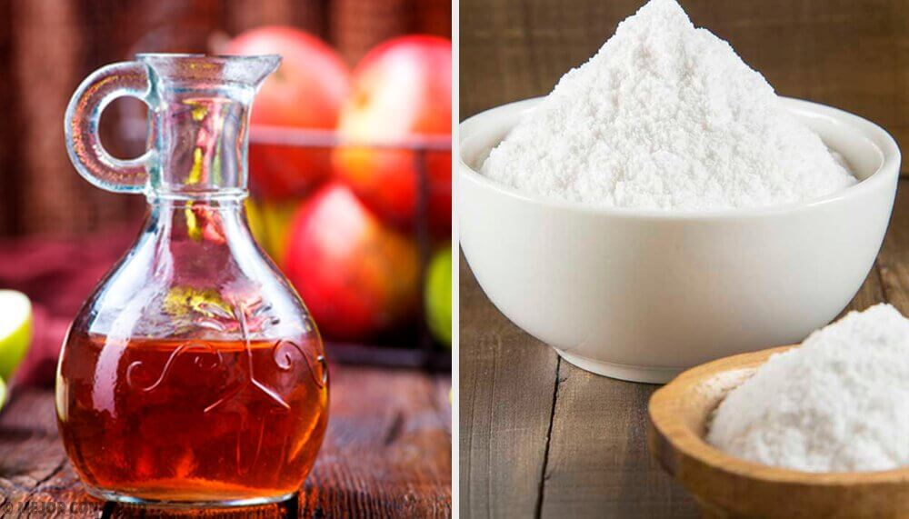 Baking soda and apple cider vinegar