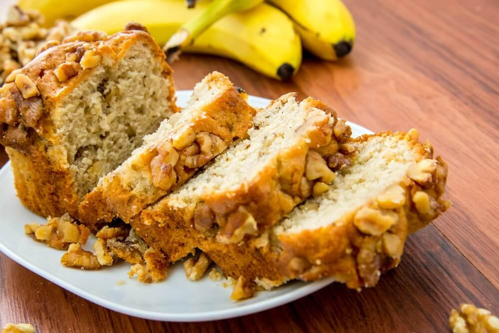Sugar-free Banana Nut Bread