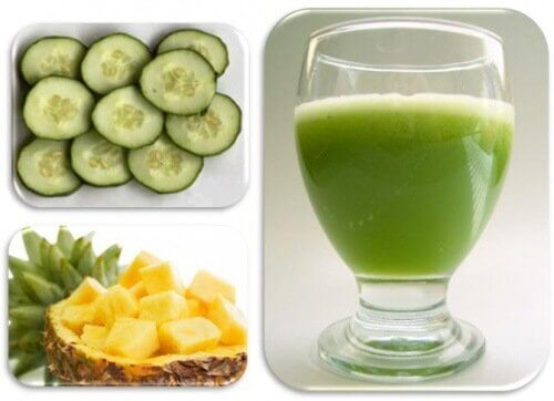 Cucumber and pineapple