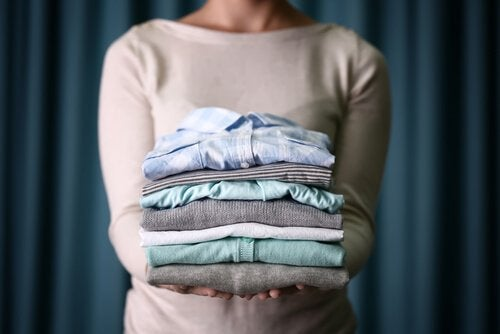 Leave your clothes folded or hung on a rack