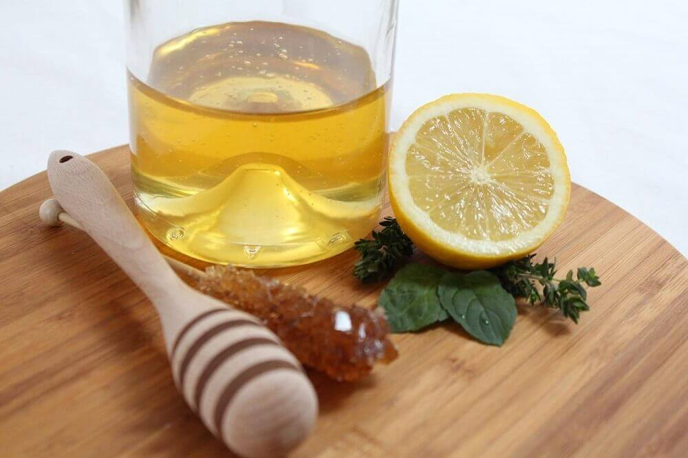 Honey and lemon.