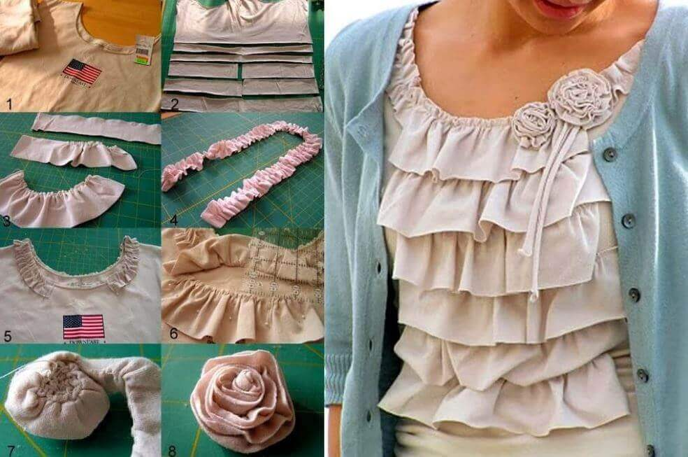 Some ideas of how to reuse old clothes.