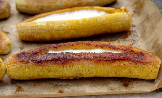 roasted ripe plantains