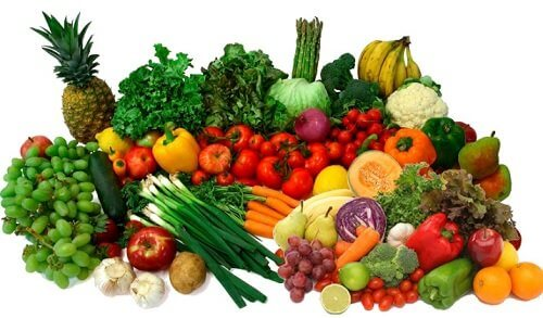 Fruit and vegetables: vitamins for healthy skin.