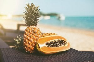 pineapple and papaya