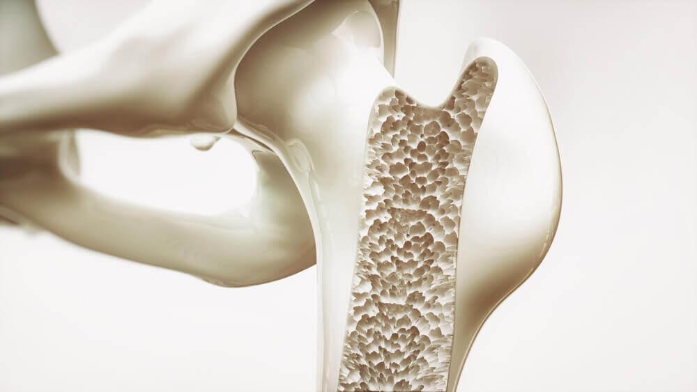 A graph showing bone density.