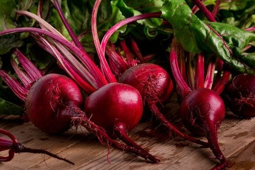 Some raw beetroots