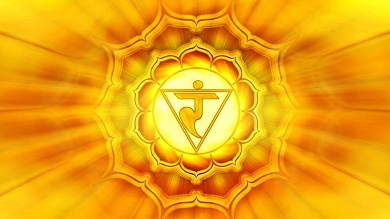 The manipura or solar plexus chakra.