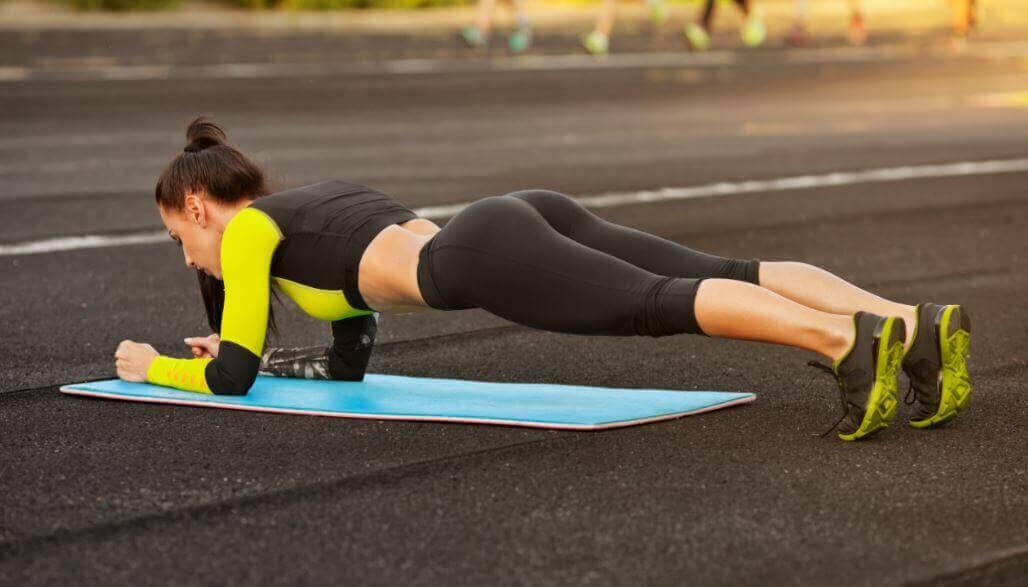 Plank abdominal exercises
