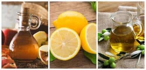 Lemon-Olive Oil-Apple Cider Vinegar Remedies for Kidney Stones